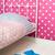 pink and blue bedroom stock photo © ivonnewierink