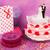 wedding · cake · rose · isolato · bianco · alimentare · wedding - foto d'archivio © ivonnewierink