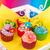 verjaardag · kleurrijk · boter · room · dienblad - stockfoto © ivonnewierink