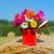 flores · vaso · céu · flores · da · primavera · nuvens · casamento - foto stock © ivonnewierink