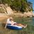 senior · homem · inflável · colchão · praia · verão - foto stock © ivonnewierink