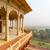 eski · kale · balkon · galeri · Hindistan · seyahat - stok fotoğraf © ivz