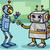 fantázia · robot · rajz · illusztráció · boldog · terv - stock fotó © izakowski