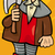 knight with axe cartoon illustration stock photo © izakowski