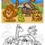 cartoon wild animals coloring page stock photo © izakowski