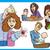parents and kids cartoon set stock photo © izakowski