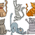 funny cats set cartoon illustration stock photo © izakowski