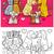 hond · emotie · ingesteld · cartoon · pagina · kleurboek - stockfoto © izakowski