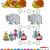 math · Aufgabe · Vorschule · Kinder · Karikatur · Illustration - stock foto © izakowski