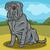 neapolitan mastiff dog cartoon illustration stock photo © izakowski