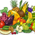 fruits and vegetables group cartoon illustration stock photo © izakowski
