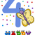 fourth birthday cartoon card design stock photo © izakowski