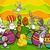 mutlu · karikatür · easter · bunny · civciv · örnek · bakıyor - stok fotoğraf © izakowski