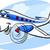 air plane cartoon illustration stock photo © izakowski