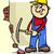 worker with pick cartoon illustration stock photo © izakowski