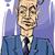 man in suit drawing illustration stock photo © izakowski