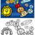 solar system cartoon coloring book stock photo © izakowski