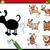 oscuridad · actividad · perros · Cartoon · ilustración · educativo - foto stock © izakowski