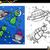 alien characters coloring page stock photo © izakowski