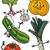 desenho · animado · feliz · abobrinha · ilustração · engraçado - foto stock © izakowski