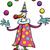 clown · cartoon · illustratie · grappig · hoorn - stockfoto © izakowski