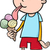 ragazzo · mangiare · dolci · cartoon · uomo · candy - foto d'archivio © izakowski