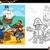 pirates with treasure coloring page stock photo © izakowski