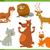 funny wild animal characters set stock photo © izakowski