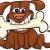 rajz · kutya · nagy · csont · illusztráció · vicces - stock fotó © izakowski