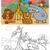 wild animals cartoon coloring book stock photo © izakowski