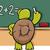 turtle at blackboard cartoon illustration stock photo © izakowski