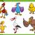 birds cartoon set illustration stock photo © izakowski