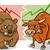 tőzsde · illustrator · bika · medve · üzlet · pénz - stock fotó © izakowski
