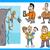 rajzolt · emberek · csoport · elektronikus · eszközök · rajz · illusztráció - stock fotó © izakowski