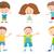 счастливым · Cartoon · детей · набор · иллюстрация - Сток-фото © izakowski