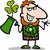 trifoglio · cartoon · illustrazione · felice · verde - foto d'archivio © izakowski