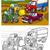 autók · járművek · kifestőkönyv · gyerekek · teherautó · autó - stock fotó © izakowski