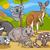 koala · canguro · funny · flor · sonrisa · fiesta - foto stock © izakowski