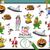 tarefa · crianças · desenho · animado · ilustração · jardim · de · infância - foto stock © izakowski