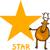 star shape with cartoon deer stock photo © izakowski