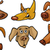 cartoon funny dogs heads set stock photo © izakowski