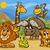 cute · африканских · safari · животного · cartoon · три - Сток-фото © izakowski