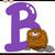 letter b for beaver cartoon illustration stock photo © izakowski