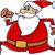 running santa claus cartoon stock photo © izakowski