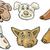 cartoon funny dogs heads set stock photo © izakowski