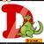 letter d with dragon cartoon illustration stock photo © izakowski
