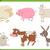 farm animal characters set stock photo © izakowski