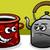 cartoon · domu · kuchnia · jar · odizolowany · biały - zdjęcia stock © izakowski