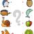 combinar · elementos · educação · jogo · desenho · animado · ilustração - foto stock © izakowski