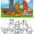 funny dogs cartoon coloring book stock photo © izakowski